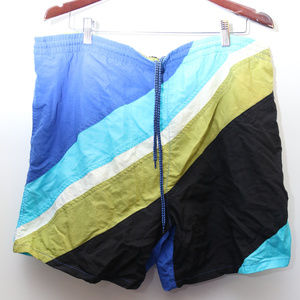 """90's Vintage """"BASIC EDITIONS"""" Colorblocked Trunks"""